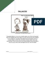 e11 fallacies packet