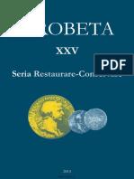 25 DROBETA Restaurare Conservare XXV 2015