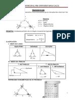 Formulario de Geometrìa, Triàngulos.2012 - Copia