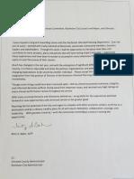 Mitzi Baker's resignation letter