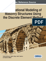 Computational Modeling of Masonry Structures Using the Discrete Element Method