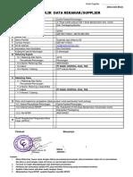 Formulir Data Supplier