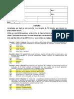 Teste Custos - Adm Gabarito