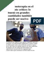 Oxígenoterapia en El Paciente Crítico