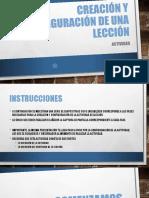 Creación y Configuración de Una Lección