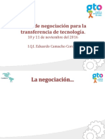 5. Negociación Para La Transferencia de Tecnología