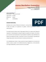 MODELO DE CURRICULO VITAE