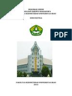 Pedoman Umum Pelaksanaan Skripsi Mahasiswa FK UR 2015
