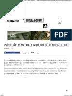 Psicología Cromática_ La Influencia Del Color en El Cine - Cultura Inquieta