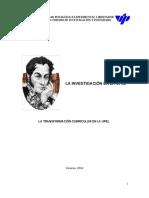 La Investigación en La Upel 2016