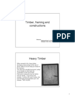 Timber, Framing and Constructions
