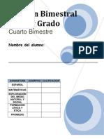 1er Grado - Examen - Bimestre 4