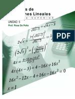 NUnidad5 Sistemas Ecuaciones Lineales Algebra Superior