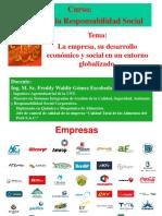 La Empresa, Entorno Economico y Global