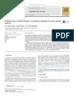 Lodos de tratamiento de agua potable como un absorbente eficiente para la eliminación de metales pesados
