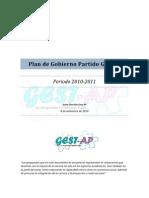 Plan de Gobierno Partido GESTAP