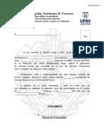 Carta de Presentación Servicio Social UPAV 2017