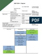 Bqff 2018 - Program on a Page