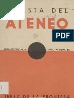 Revista Del Ateneo (Jerez de La Frontera). 4-1934, n.º 68