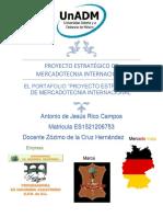 """EL PORTAFOLIO """"PROYECTO ESTRATÉGICO DE MERCADOTECNIA INTERNACIONAL"""""""