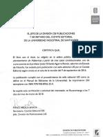 Certificado Prof. Javier