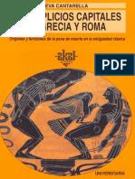 Cantarella Eva -Los Suplicios Capitales en Grecia y Roma