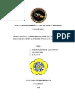 MAKALAH LOMBA PERKERASAN JALAN TINGKAT NASOIONAL UNILA.docx