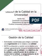 1.7.-Gestión de La Calidad a Nivel Superior Ing Sandro Paz