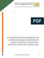Plan Municipal para la Gestión del Riesgo Municipio de GUASCA