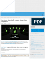Que Hacer Después de Instalar Linux Mint 18.3 Sylvia - Linux Para Todos
