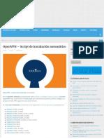 Openvpn - Script de Instalación Automático - Linux Para Todos