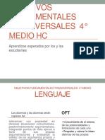 Objetivos Fundamentales Transversales 4 Medio