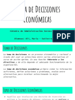 Toma de Decisiones Económicas