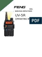 Baofeng UV-5R Series Operating Manual