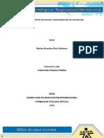 Evidencia 5 Informe de Proceso Nacionalización de Mercancías