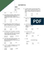 Aritmética Razones y Proporciones