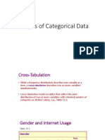 Analysis of Categorical Data