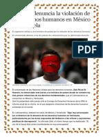 La ONU Denuncia La Violación de Los Derechos Humanos en México y Venezuela
