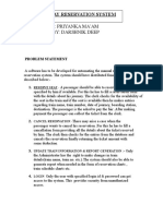 DARSHNIK Railway Reservation Case Study