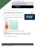 ¿Cómo debo cuidar mi Cyber-shot  Sony ES.pdf