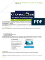 Instalación Del Entorno de Desarrollo y Primer Proyecto en Android 1 Parte