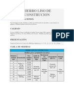 Hierro Liso de Construcion