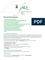 ACOG All About Exercise During Pregnancy