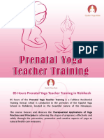 85 Hours Prenatal Yoga Teacher Training in Rishikesh