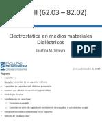 Electrostática en El Medios Materiales - Dieléctricos