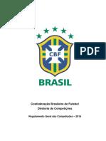 Regulamento Geral da Competições CBF 2018
