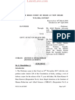 Delhi High Court Judgment on Illegal Detention in Mental Hospital