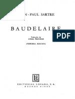 SARTRE Jean Paul - Baudelaire