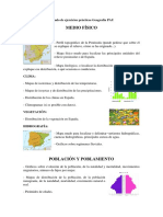 Listado de ejercicios prácticos Geografía PAU