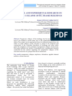 THEORETICAL AND EXPERIMENTAL RESEARCH ON PROGRESSIVE COLLAPSE OF RC FRAME BUILDINGS